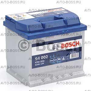 Автомобильный аккумулятор 0092S40020 BOSCH (S4 002) 52 a/h обр 552400047 52 Ач