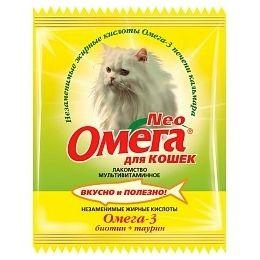 Витамины Омега Neo для кошек с биотином и таурином, 15 таб.