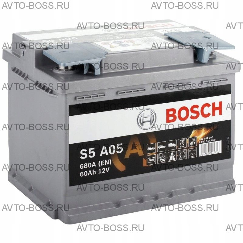 Автомобильный аккумулятор 0092S5A050 BOSCH (S5 A05) 60 a/h обр AGM 560901068 L2 60 Ач