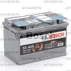 Автомобильный аккумулятор 0092S5A080 BOSCH (S5 A08) 70 a/h обр AGM 570901076 70 Ач