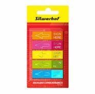 Закладки самокл. пластиковые Silwerhof 12x44мм 5цв. в упаковке (арт. 801015)
