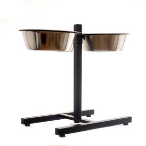 Подставка PAPILLON Double dinner H-stand, incl. bowls стойка с подставкой под миски 2,8 л , д 25см, с мисками