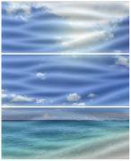Playa-3 A Wave (Комп х3) Панно 60х50