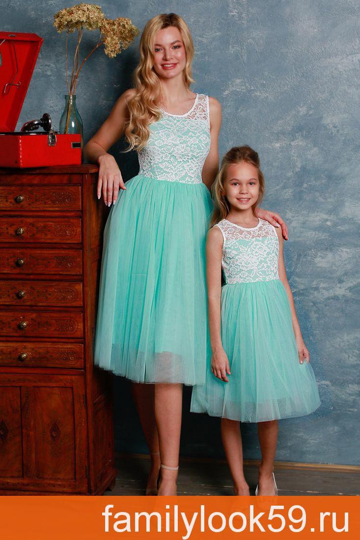 """Комплект платьев для мамы и дочки """"Ариэль"""""""