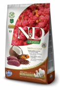 Farmina N&D Quinoa Skin&coat Venison Оленина, киноа, кокос и куркума. Здоровье кожи и шерсти. 800г