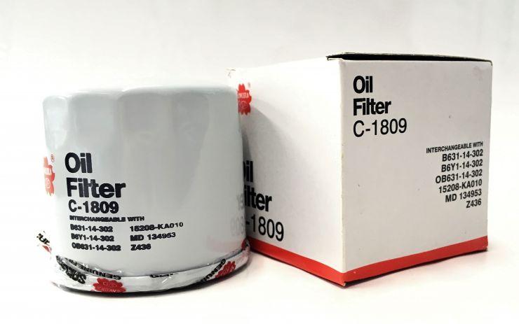 Фильтр масляный W7023 ан. C1809 Sakura