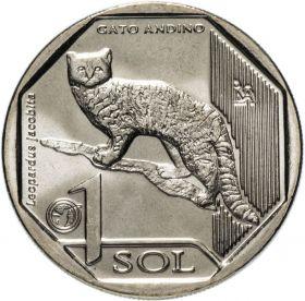 Андская кошка 1 новый соль Перу 2019