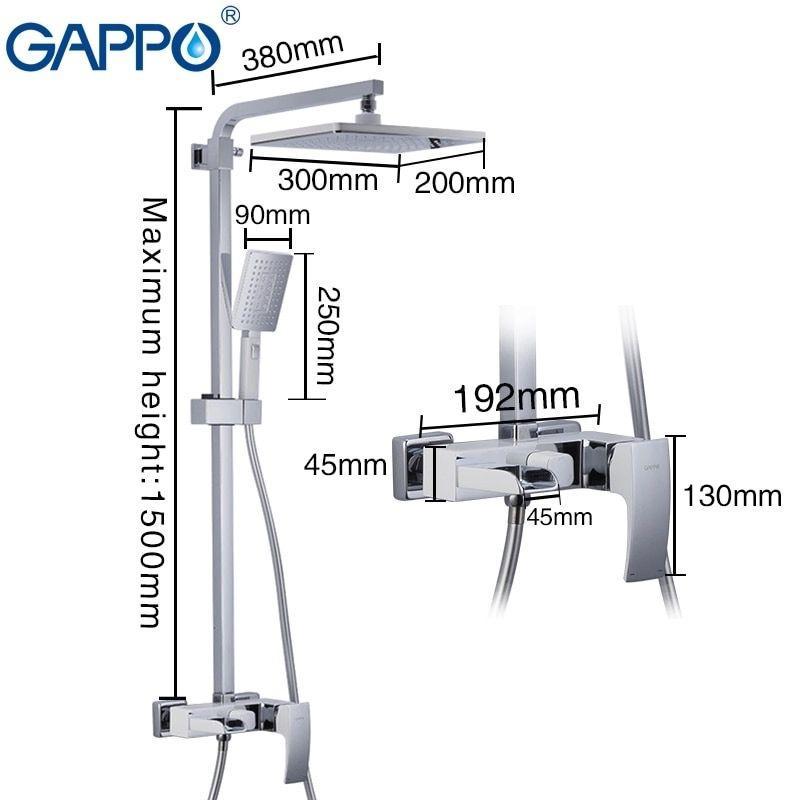 Gappo  G2407-30 Jacob Душевая система