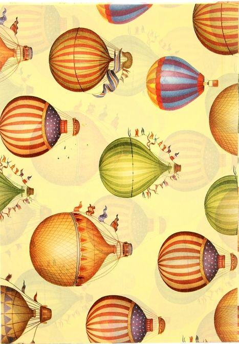Декупажная карта, 20*30 см, Воздушный шар