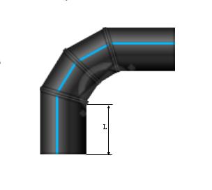 Отвод сварной 400 90˚ ПЭ 100 SDR 11 4-сегмента