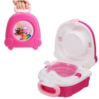 Портативный складной детский горшок-чемоданчик The Handy Potty, цвет розовый (1)