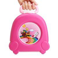 Портативный складной детский горшок-чемоданчик The Handy Potty, цвет розовый (3)