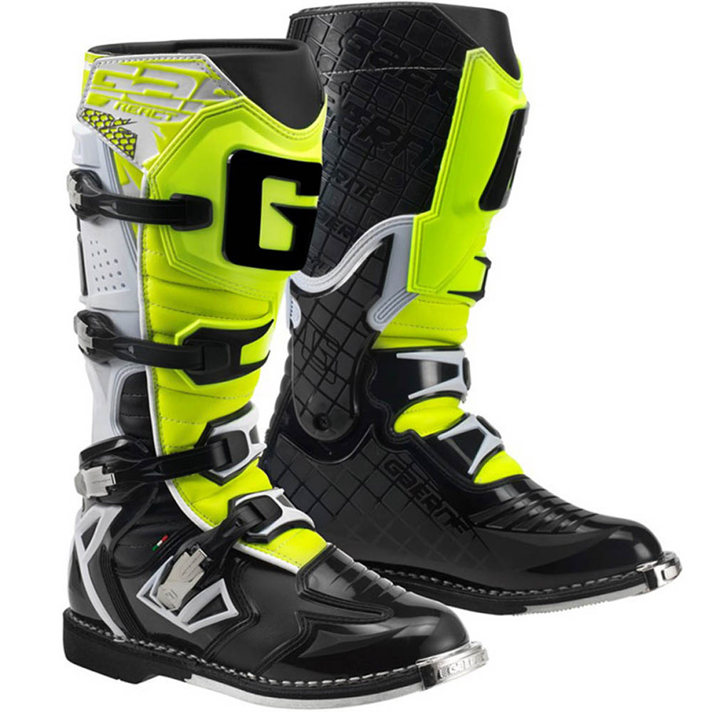 Gaerne - G-React Goodyear мотоботы, бело-черно-желтые