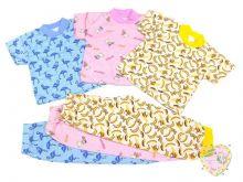 """Пижама универсальная мальчик, девочка кор. рук. C-PJ023-SU """"Мамин Малыш"""" оптом (код 01815)"""