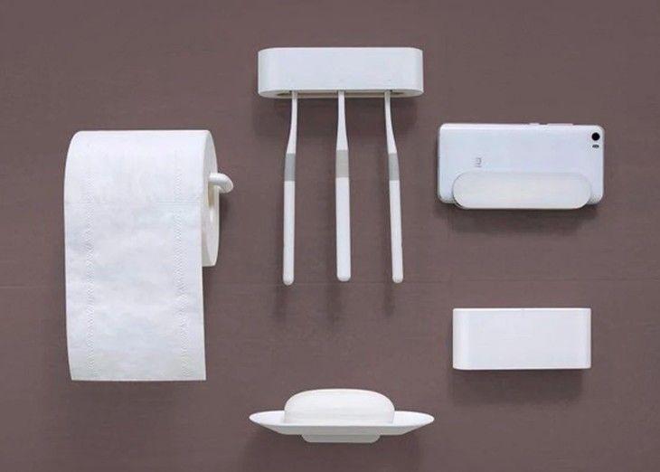 Набор настенных держателей для ванной комнаты Xiaomi Happy Life Bathroom Set 5шт