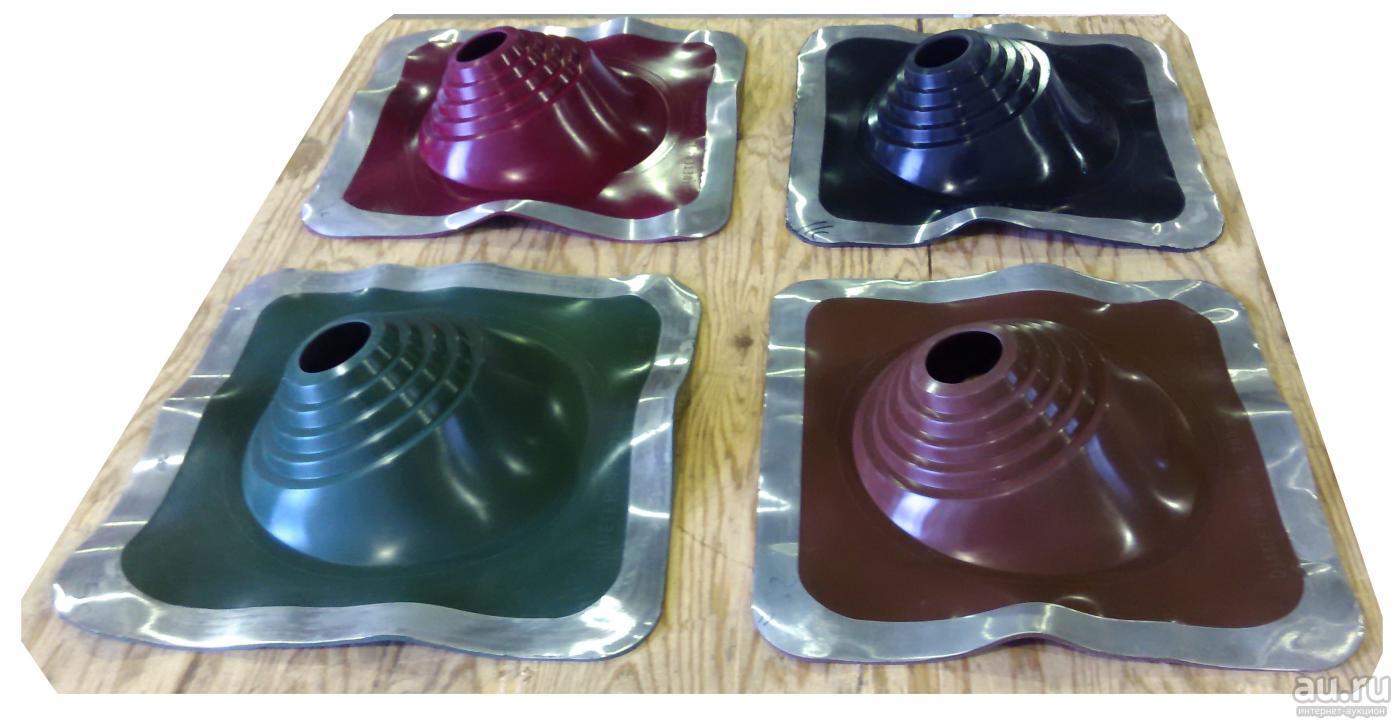 Манжета кровельная ПРОФИ №1 75-200 мм силикон (коричневый, красный, зеленый, черный)
