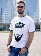 рэп футболка борода и корона
