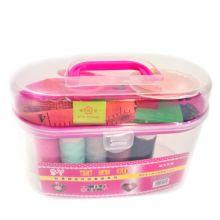 Швейный набор в контейнере, 15х7х9 см, Розовый