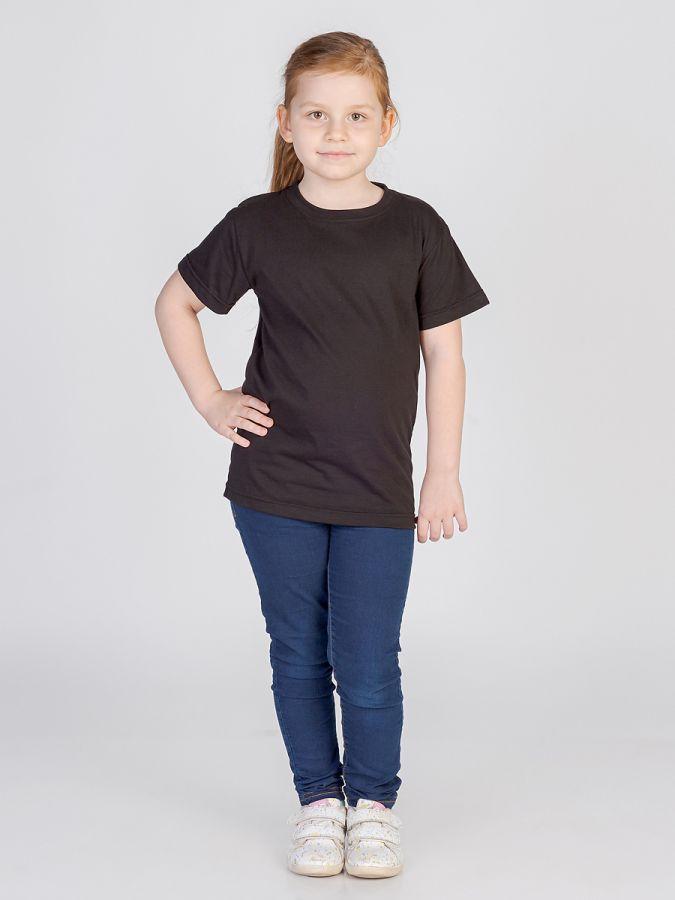 футболка детская без принта Черная