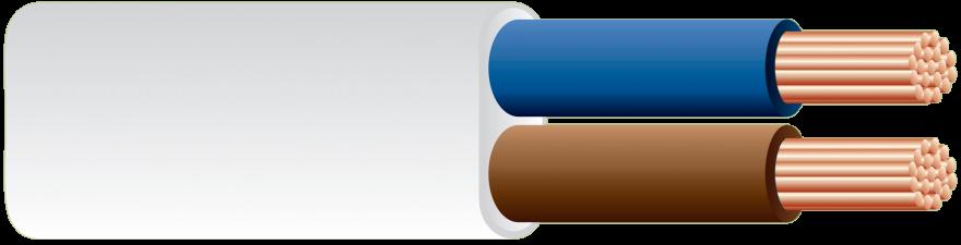 Провод ШВВП 2х0,75 100м (ГОСТ) (РЭМЗ) соединит. белый медный выс. гибк. дв. изоляция ПВХ 220В