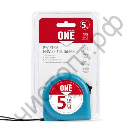 Рулетка измерит., 5мх19мм, пластик. корпус, фиксатор,  усилен. зацеп, Smartbuy Tools