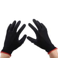 Нейлоновые перчатки с нитриловым покрытием, 12 пар, цвет черный (2)