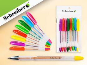 Набор цветных гелевых ручек с блёстками, 8 цветов (арт. S 2404-8)
