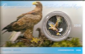 Орлан-белохвост 2 гривны Украина  2019 Блистер