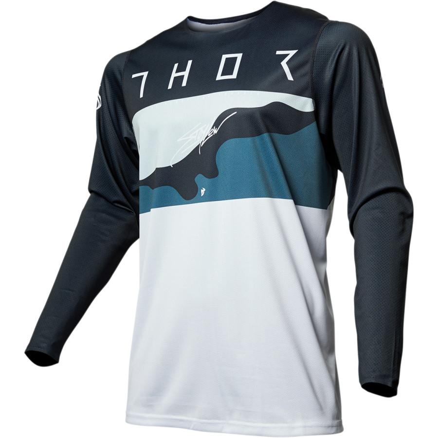 Thor - 2019 Prime Pro Fighter Blue/Camo джерси, синий камуфляж