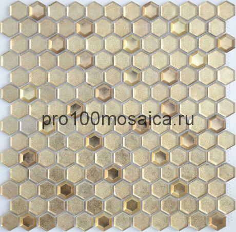 Мозаика Aureo grani hexagon 30х30x0,6 см (чип 23х13х6 мм)