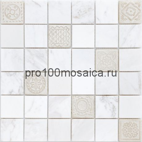 Мозаика Art Dolomiti blanco матовая 30х30х0,8 см (чип 48х48х8 мм)