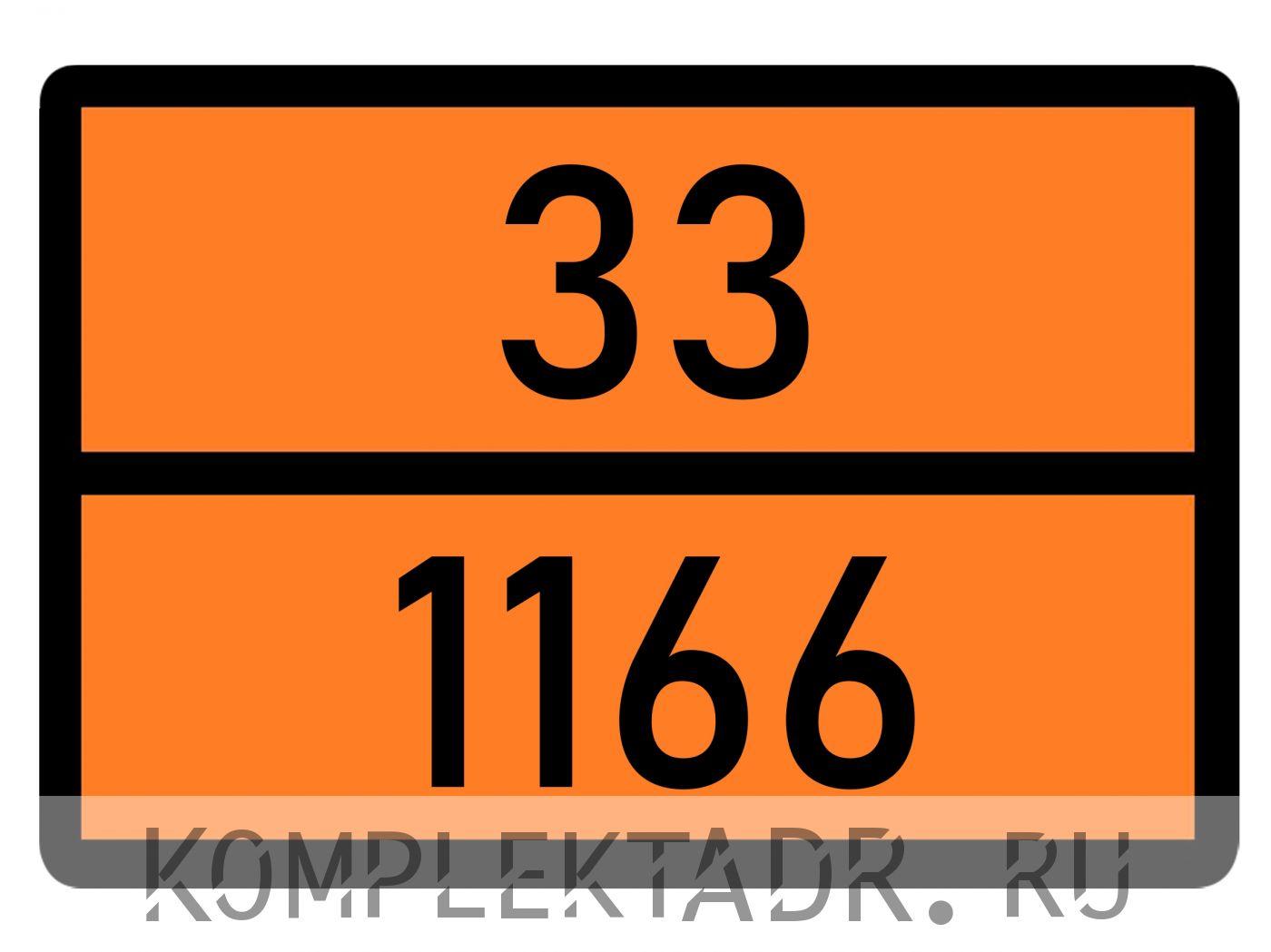 Табличка 33-1166