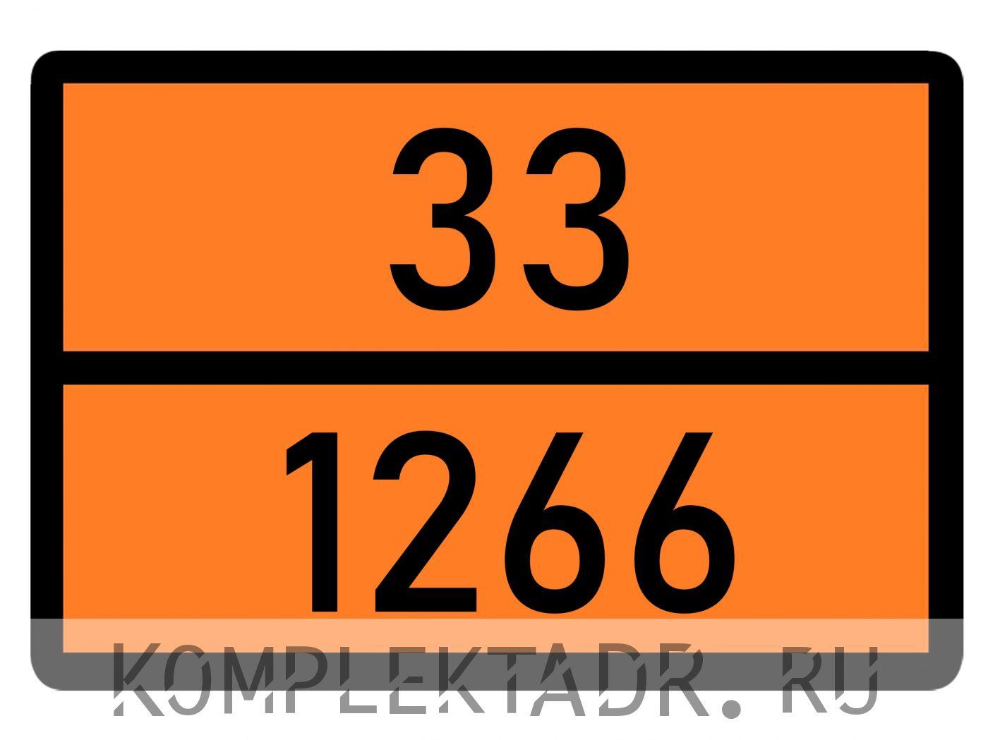 Табличка 33-1266
