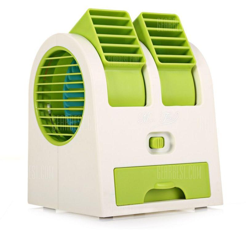 Настольный Кондиционер-Вентилятор HY-168, Цвет Зеленый