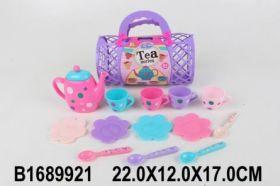 Игровой набор посуды. Чаепитие с подругами (13 предметов в сумочке) (арт. 1689921)