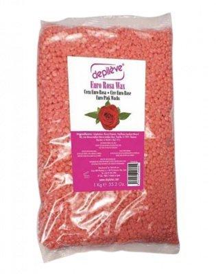 Горячий воск в гранулах Розовый EURO ROSA WAX, упаковка Depileve, 1 кг.