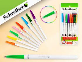 Набор цветных шариковых ручек, 8 цветов, 0,7 мм (Россия) (арт. S 347-8)