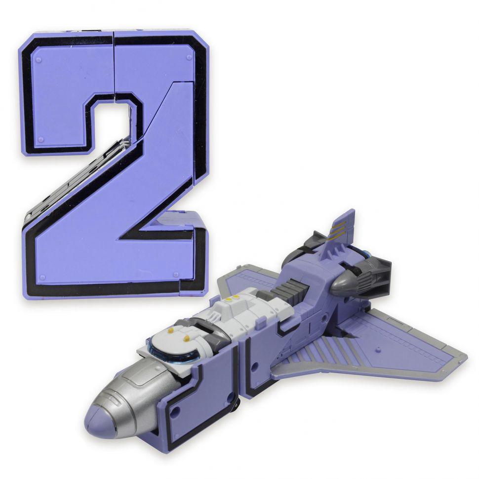 2 Трансбот Боевой Расчет космический челнок Парапланер или цифра два