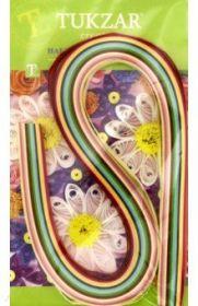 Набор цветных бумажных полосок для квиллинга, 120 штук, ширина 6 мм. (арт. TZ 12851)