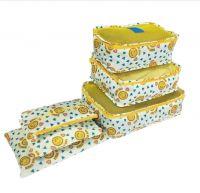 Набор дорожных сумок для путешествий Laundry Pouch, 6 шт, цвет белый с желтым (2)