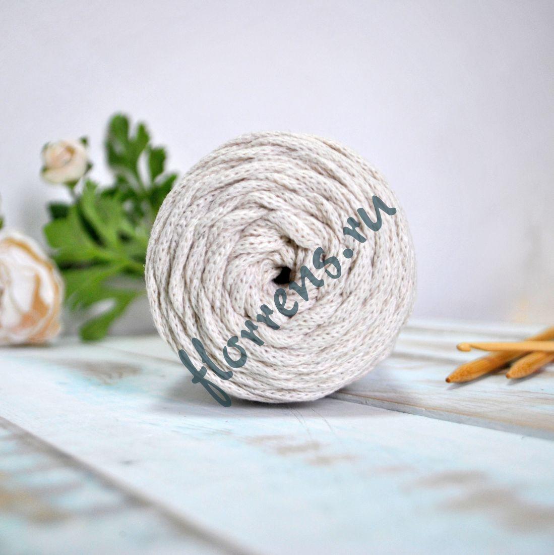 Шнур для вязания / неокрашенный хлопок