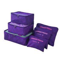 Набор дорожных сумок для путешествий Laundry Pouch, 6 шт, цвет сиреневый