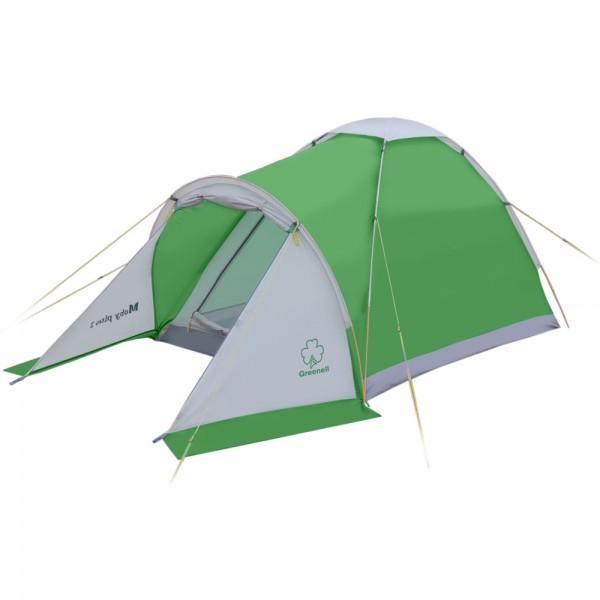 Палатка  NovaTour  Моби 3 плюс Зеленый/свет.серый