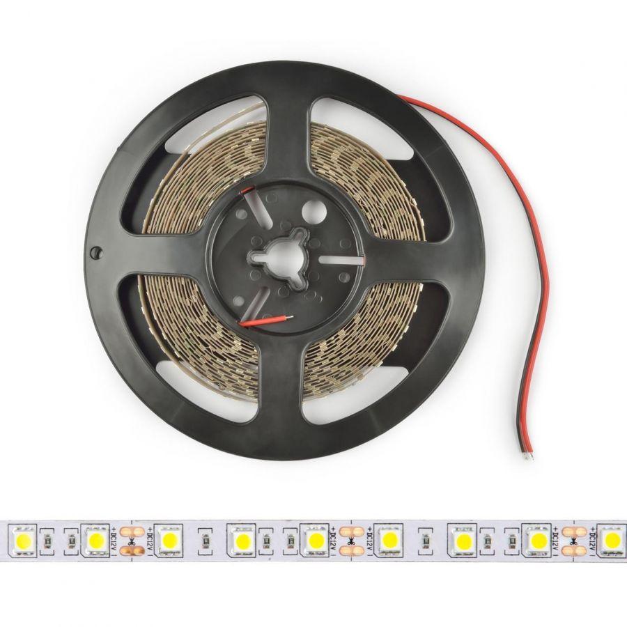 Светодиодная лента (UL-00004372) Uniel 14,4W/m 60LED/m 5050SMD холодный белый 5M ULS-M25-5050-60LED/m-10mm-IP20-DC12V-14,4W/m-5M-6500K PROFI