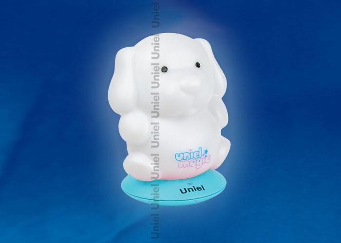 Светильник-ночник Uniel (03574) DTL-305-Собачка/3color/Base blue/Rech