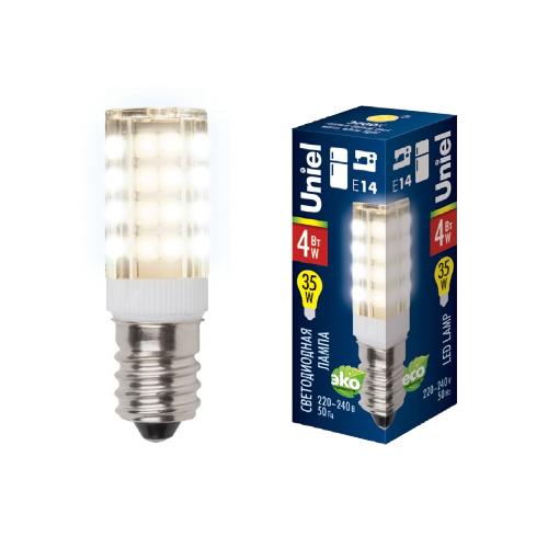 Лампа светодиодная (UL-00000179) E14 4W 3000K прозрачная LED-Y16-4W/WW/E14/CL PLZ04WH