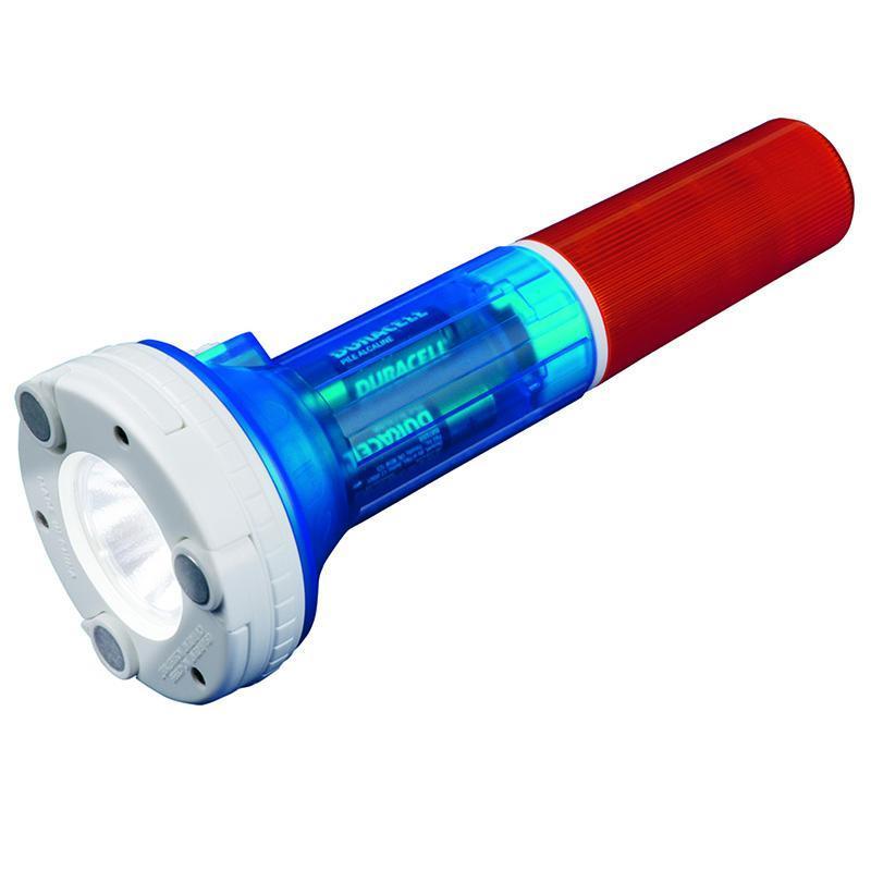 Автомобильный светодиодный фонарь (05143) Uniel от батареек 220х81,5 80 лм P-AT031-BB Amber-Blue