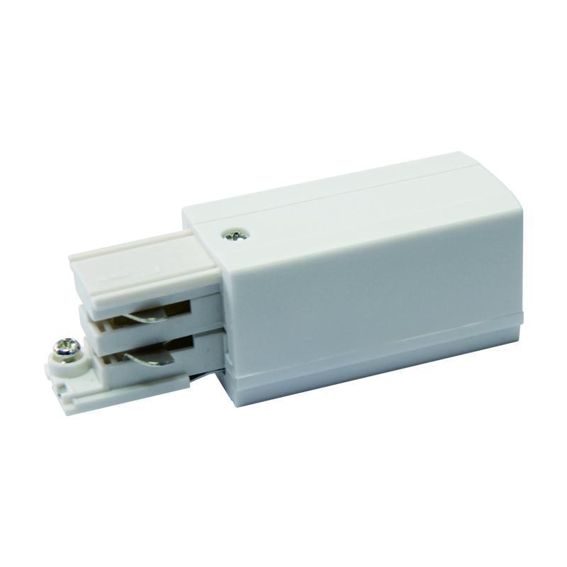 Ввод питания для шинопровода правый (09737) Uniel UBX-A01 Silver