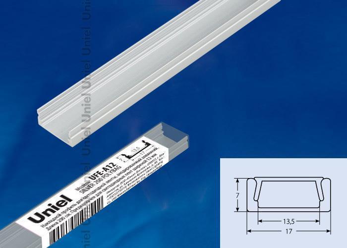 Профиль (UL-00004051) Uniel UFE-A12 Silver 200 Polybag