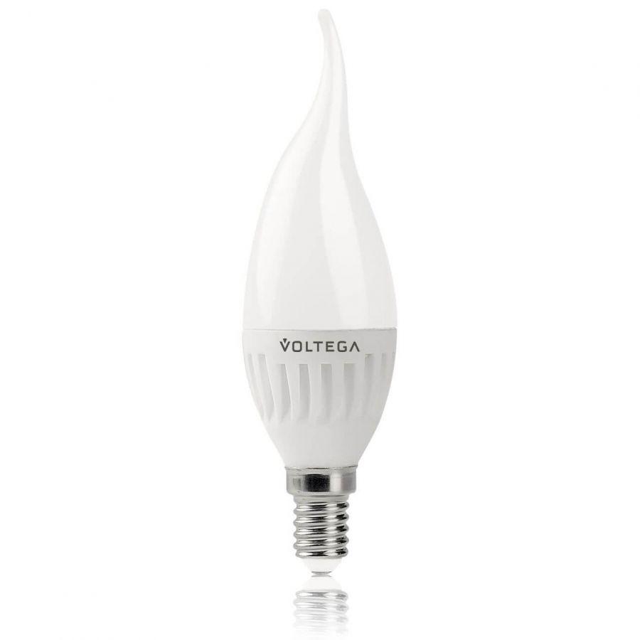 Лампа светодиодная Voltega E14 6.5W 4000К матовая VG1-CW2E14cold6W 5720